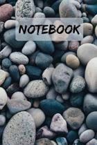 NOTEBOOK Pretty Pebbles Notepad Journal Diary: 6x9'' 120 Page Blank lined Note book.
