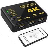 HDMI Switch 3 Poorts met Afstandsbediening Ultra HD 4K 3D