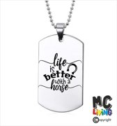 Ketting RVS - Life Is Better With A Horse