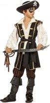 Bruin piraten kostuum voor jongens 128