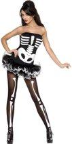 Sexy halloween skelet kostuum voor dames - Verkleedkleding - Large (44-46)