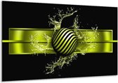 Glasschilderij Abstract   Groen, Zwart   120x70cm 1Luik   Foto print op Glas    F004214