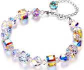 Yolora dames armband met 31 Swarovski kristallen – Echt zilveren Armband, 925 sterling - YO-158