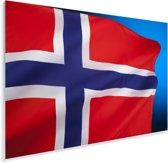 De nationale vlag van Noorwegen Plexiglas 90x60 cm - Foto print op Glas (Plexiglas wanddecoratie)