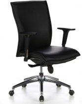 hjh office Murano 10 - Bureaustoel - Fijnleder - Zwart