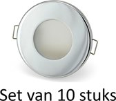 Dimbare Phillips 5W GU10 Badkamer inbouwspots Zilver rond | Extra warm wit (Set van 10 stuks)