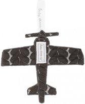 Baby Anne-Cy Plane Speendoekje Butterfly Cable Dark Grey