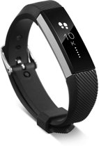 Siliconen Horloge Band Voor Fitbit Ace - Armband / Polsband / Strap / Sportband - Zwart