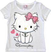 Hello Kitty Meisjes T-shirt wit 98