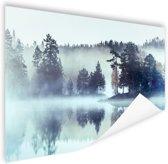 Mistig landschap  Poster 180x120 cm - Foto print op Poster (wanddecoratie woonkamer / slaapkamer) XXL / Groot formaat!
