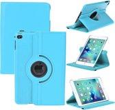 iPad Mini 4 Hoes Cover  360 graden Multi-stand Case draaibare licht blauw