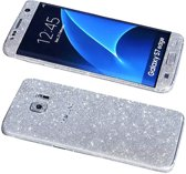Xssive Glitter Sticker voor Samsung Galaxy S7 Edge G935 Zilver Duo Pack - 2 stuks