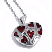 AsHanger hart rood-staal-2,6cm