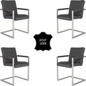 Feel Furniture - Conference Hugo stoel set 4 - Donker Grijs