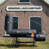 21 inch 8 mm dik stalen Oklahoma Country smoker chuck wagon