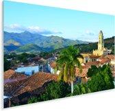 Het oude stadje Trinidad met bergen in de achtergrond in Cuba Plexiglas 60x40 cm - Foto print op Glas (Plexiglas wanddecoratie)