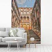 Fotobehang vinyl - Het interieur van het Pakistaanse Lahore Fort in Azië breedte 195 cm x hoogte 300 cm - Foto print op behang (in 7 formaten beschikbaar)