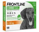 Frontline Combo - S: van 2 tot 10 kg - Anti vlooienmiddel en tekenmiddel - Hond - 3 pipetten