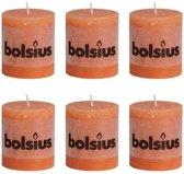 Bolsius Stompkaars 80/68 rustiek Oranje (per 6 stuks)