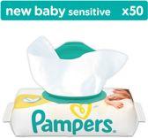 Pampers Billendoekjes - New Baby Sensitive Navulpak 50 Stuks