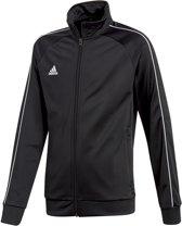 adidas Core 18 Trainingsjas - Maat 164  - Unisex - zwart