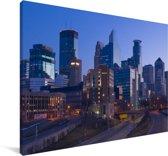 De skyline van het Amerikaanse Minneapolis Canvas 90x60 cm - Foto print op Canvas schilderij (Wanddecoratie woonkamer / slaapkamer)