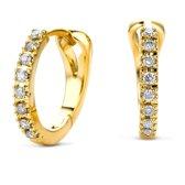 Majestine oorringen 14  Karaat (585) Goud, Geelgoud met Diamant 0.11ct