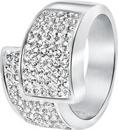 Lucardi - Stalen ring met kristal