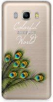 Galaxy J5 2016 Hoesje Peacock World