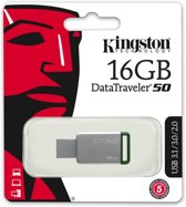 Kingston DataTraveler 50 - USB-stick - 16 GB + 1 Gratis Popsacket