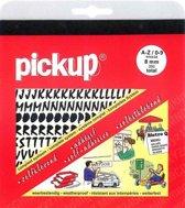 Pickup plakletters boekje Vivace 8mm letters + cijfers zwart