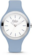 Colori Macaron 5 COL511 Horloge - Siliconen Band - Ø 30 mm - Licht Blauw