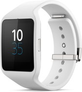 Sony Smartwatch 3 - Geribbeld siliconen - Wit