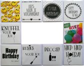 Verjaardagskaarten - Proost - Happy Birthday - Set van 10--L-014