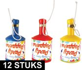 Party poppers champagne 12 stuks