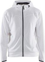Blåkläder 3363-2526 Hoodie met rits Wit/Donkergrijs maat XL