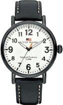 River Woods RW420008 Sacramento horloge Heren - Zwart - Leer 42 mm