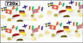 720x Cocktailprikker vlag Internationaal - Cocktail prikker landen vlag carnaval tapas kaas worst snack festival thema party