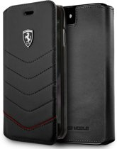 Ferrari Zwart Heritage Leather Book Cover iPhone 8 / 7