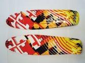 Skateboarddeck Orange Blocks