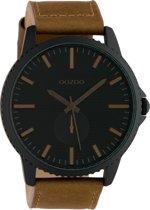 OOZOO Timepieces Bruin/Zwart horloge  (48 mm) - Bruin