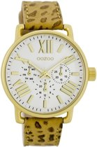 OOZOO Timepieces horloge Zand C7186 - 42 mm - Leer - Multicolor