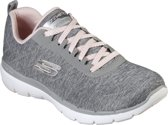 Skechers Flex Appeal 3.0-Insiders Sneakers Dames - Grey Light Pink - Maat  41