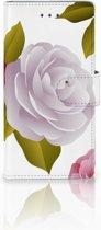 Samsung Galaxy A5 2016 Uniek Boekhoesje Roses