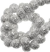 Acryl Kralen Rhinestone (6 mm) Silver (30 Stuks)