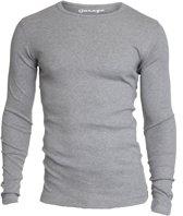 Garage 303 - T-shirt 1-pack Semi Body Fit Long Sleeve R-Hals Grijs Melange - L