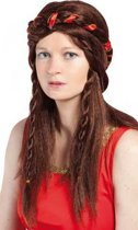 Middeleeuwse pruik voor dames - Verkleedpruik