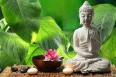 Papermoon Buddha in Meditation Vlies Fotobehang 200x149cm 4-Banen