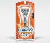 Gillette Fusion Power Scheerapparaat met scheerblad Trimmer Multi kleuren, Oranje scheerapparaat