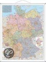 Orga-Karte Deutschland. Wandkarte Großformat mit Metallstäben